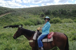 Karen Riding the Range